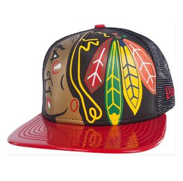Кепка Mens New Era Chicago Blackhawks Gigantor Black Team Hat