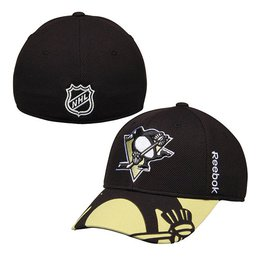 Купить Men's Pittsburgh Penguins Reebok Black 2015 NHL Draft Structured Flex Hat