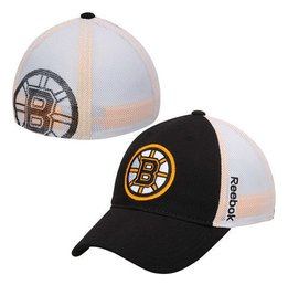Reebok Boston Bruins Black Face Off Slouch Flex Hat NHL