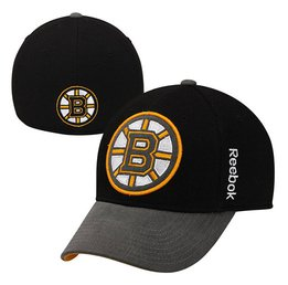 Купить Mens Boston Bruins Reebok Black Playoffs Cap Flex Hat