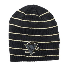 Купить Шапка Mens Pittsburgh Penguins Reebok Black Cross Check Cuffless Knit Beanie