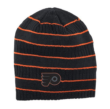 Шапка Mens Philadelphia Flyers Reebok Black Cross Check Cuffless Knit Beanie