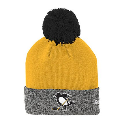 Шапка Men's Pittsburgh Penguins Reebok Yellow 2017 Stadium Series Goalie Cuffed Knit Hat With Pom