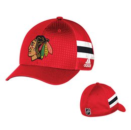 Men's Chicago Blackhawks adidas Red 2017 Draft Structured Flex Hat