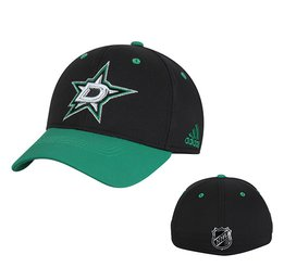 Men's Dallas Stars adidas Black Centennial Structured Flex Hat