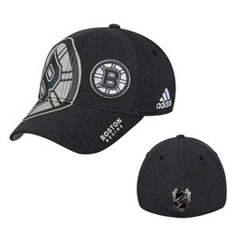 Men's Boston Bruins adidas Black Travel & Training Flex Hat