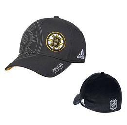 Men's Boston Bruins adidas Black On-Ice Second Season Structured Flex Hat