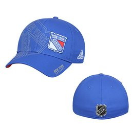 Купить Men's New York Rangers adidas Blue On-Ice Second Season Structured Flex Hat