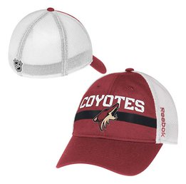 Купить Mens Arizona Coyotes Reebok Maroon Center Ice Player Flex Hat