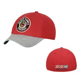 Men's Chicago Blackhawks Reebok Red CCM Structured Flex Hat