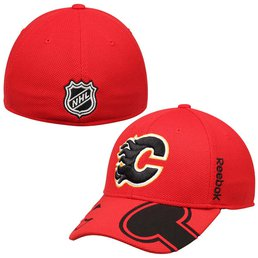 Men's Calgary Flames Reebok Red 2015 NHL Draft Structured Flex Hat