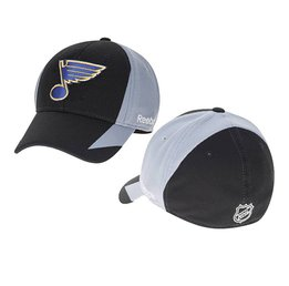 Купить Mens St. Louis Blues  Black/grey Reebok Flex Hat